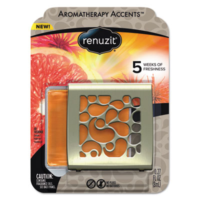 Fresh accents air freshener, happy - citrus/floral, silver/orange, 8/ct, sold as 1 carton, 8 each per carton