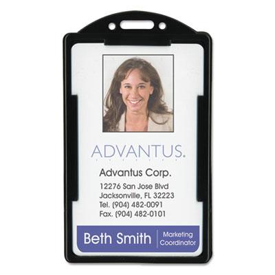 Vertical id card holders, 2 1/8 x 3 3/8, black, 25 per pack, sold as 1 package
