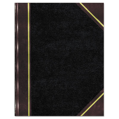 Texthide notebook, black/burgundy, 500 pages, 14 1/4 x 8 3/4, sold as 1 each