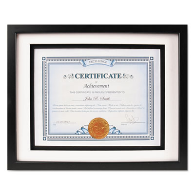 Solid wood float frame, 8 1/2 x 11; 11 x 14, black, sold as 1 each