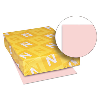 Exact vellum bristol cover stock, 67 lbs., 8-1/2 x 11, pink, 250 sheets, sold as 1 package