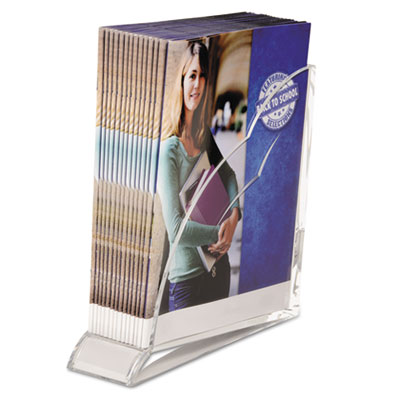 Stratus acrylic magazine rack, 3 1/2 x 10 1/4 x 10 1/2, clear, sold as 1 each