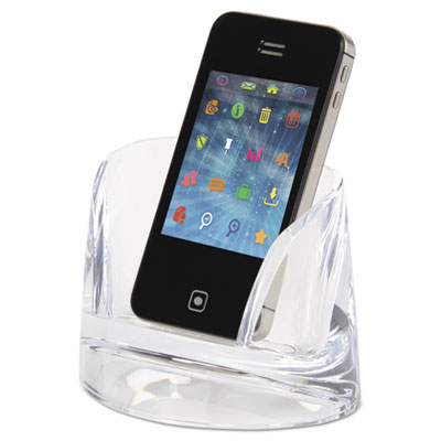 Stratus acrylic mobile phone holder, clear, sold as 1 each