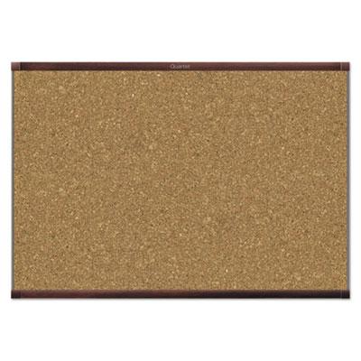 Prestige 2 magnetic cork bulletin board, 36 x 24, mahogany frame, sold as 1 each