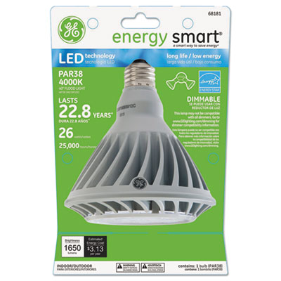 Energy smart led 12 watt par38 floodlight, sold as 1 each