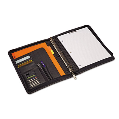 Zip bi-fold padfolio, 8 1/2 x 11, black, sold as 1 each