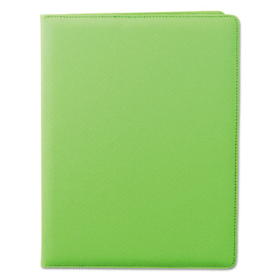 Fashion padfolio, 8 1/2 x 11, lime pvc, sold as 1 each