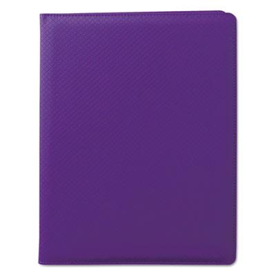 Fashion padfolio, 8 1/2 x 11, purple pvc, sold as 1 each