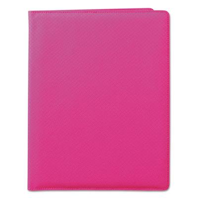 Fashion padfolio, 8 1/2 x 11, pink pvc, sold as 1 each