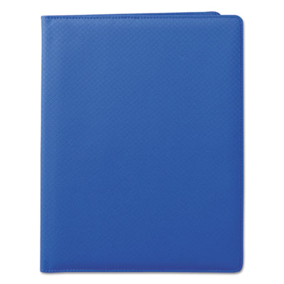 Fashion padfolio, 8 1/2 x 11, blue pvc, sold as 1 each