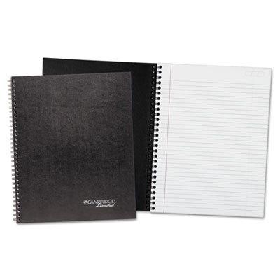 Wirebound business notebook plus pack, 8 7/8 x 11, black, 80 sheets, 2/pack, sold as 1 package