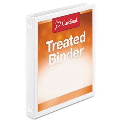 "Treated binder clearvue locking round ring binder, 5/8"" cap, 11 x 8 1/2, white, sold as 1 each"