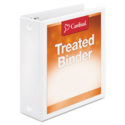 "Treated binder clearvue locking round ring binder, 3"" cap, 11 x 8 1/2, white, sold as 1 each"