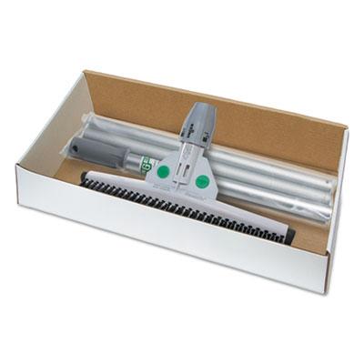 "Smartfit sanitary brush kit with handle, 22"", rubber/aluminum, black/white, sold as 1 kit"