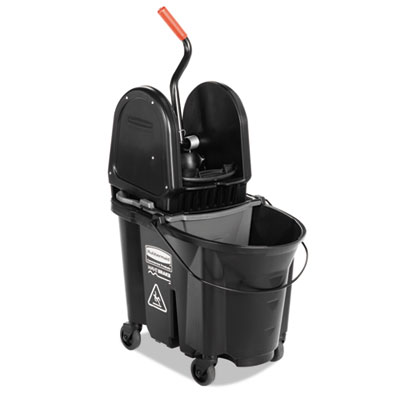 Executive wavebrake down-press mop bucket, black, 35 quart, sold as 1 each