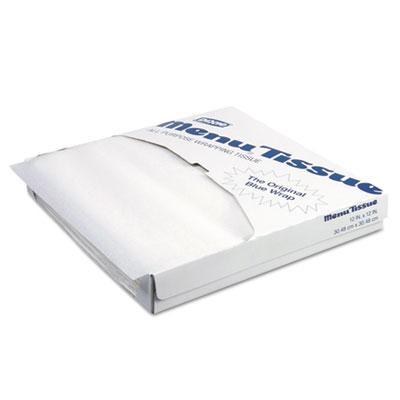 Menu tissue untreated paper sheets, 12 x 12, white, 1000/pack, 10/carton, sold as 1 carton, 10 each per carton