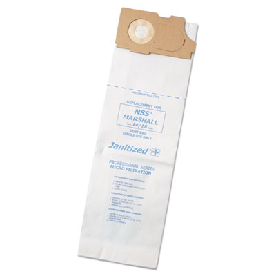 Vacuum filters for nss marshall, bandit & pacer vacuums, 10/case, sold as 1 carton, 100 each per carton