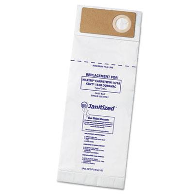 Vacuum filters for nilfisk carpetwin upright 14/18, advac model, 100/carton, sold as 1 carton, 100 each per carton
