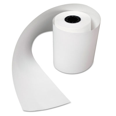 "Heat sensitive register rolls, 2 1/4"" x 200 ft, 1 ply, white, 40 rolls/carton, sold as 1 carton, 40 each per carton"