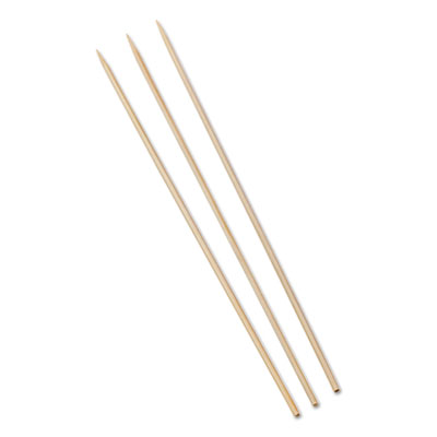 "Bamboo skewers, 10"", 100/pack, 10 packs/box, 12 boxes/carton, sold as 1 carton, 12000 each per carton"