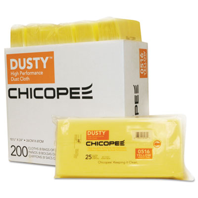 Disposable dust cloths, 10 1/4 x 24, yellow, rayon/poly, 25/bag, 12 bag/carton, sold as 1 carton, 8 package per carton