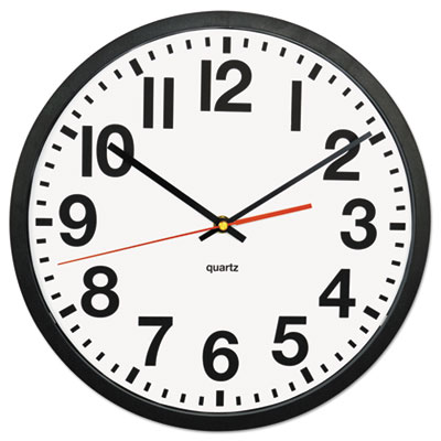 "Large numeral clock, 13"", black, sold as 1 each"
