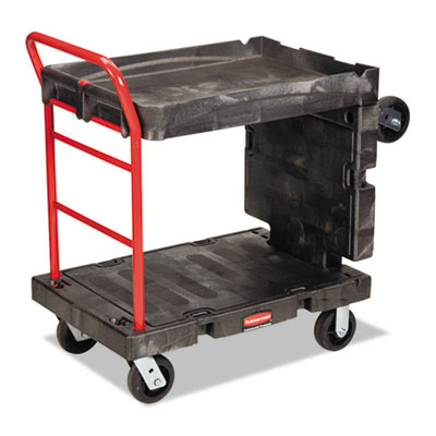 Convertible platform truck, 1000-lb cap, 24 1/4 w x  61 1/2 d x 42 1/8 h, black, sold as 1 each