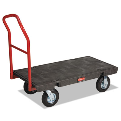 "Heavy-duty platform truck cart, 1200lb capacity, 24"" x 48"" platform, black, sold as 1 each"