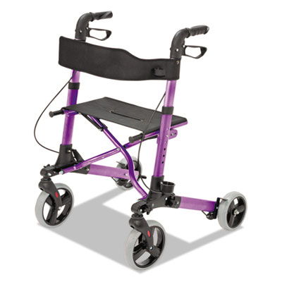 "Gateway aluminum rollator, purple, 31""-36""h, 300 lb capacity, sold as 1 each"