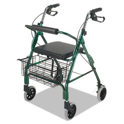 """Ultra lightweight rollator, green, aluminum/plastic, 38""""h, sold as 1 each"""