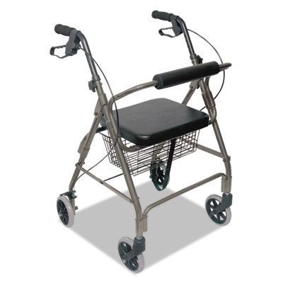 "Ultra lightweight rollator, titanium, aluminum/plastic, 38""h, sold as 1 each"