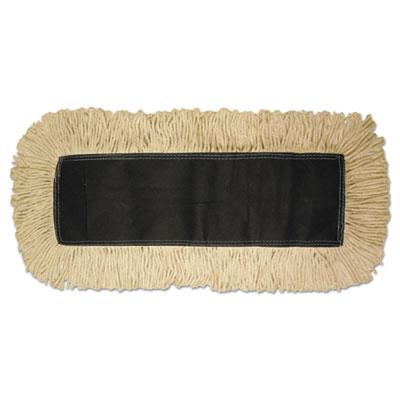 Disposable dust mop head, cotton, 18w x 5d, sold as 1 each
