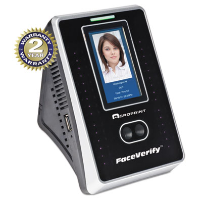 Timeqplus faceverify system, 4 x 3 x 6, black, sold as 1 each