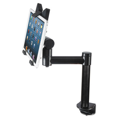 Tablet desk top kiosk stand, black, sold as 1 each