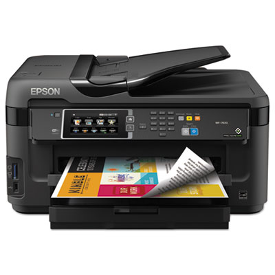 Workforce 7610 wireless all-in-one inkjet printer, copy/fax/print/scan, sold as 1 each
