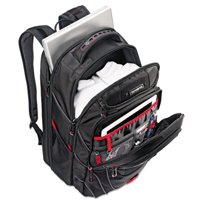 Tectonic pft backpack, 13 x 9 x 19, black/red, sold as 1 each