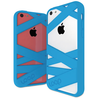 Mummy case for iphone 5c, cyan, sold as 1 each