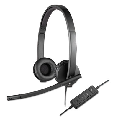 Usb h570e over-the-head wired headset, binaural, black, sold as 1 each