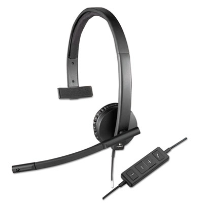Usb h570e over-the-head wired headset, monaural, black, sold as 1 each