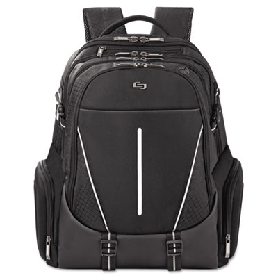 "Active laptop backpack, 17.3"", 12 1/2 x 6 x 18 3/4, black, sold as 1 each"