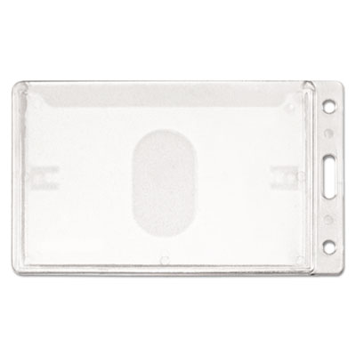 Frosted rigid badge holder, 3 3/8 x 2 1/8, clear, vertical, 25/bx, sold as 1 package