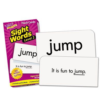 "Skill drill flash cards, 3 3/8"" x 6 1/4"", sight words set 2, 97/set, sold as 1 set"