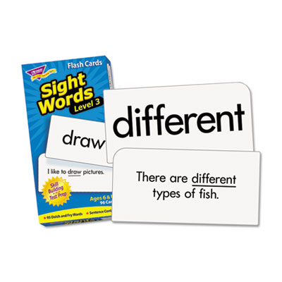 "Skill drill flash cards, 3 3/8"" x 6 1/4"", sight words set 3, 98/set, sold as 1 set"