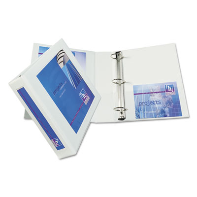 "Framed view heavy-duty binder w/locking 1-touch ezd rings, 2"" cap, white, sold as 1 each"