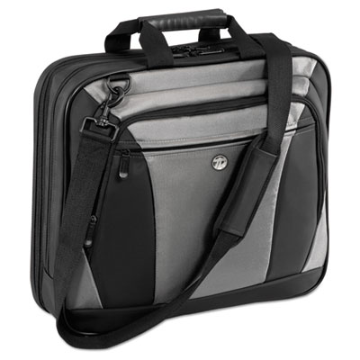 "Citylite laptop case 15.6"", 13-1/2 x  4-3/5 x 17-1/2, black/gray, sold as 1 each"