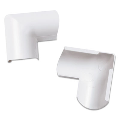 Clip-over door top bend for mini cord cover, white, 2 per pack, sold as 1 package