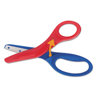 "Preschool training scissors, 5""l, 1 1/2"" cut, plastic, red/blue, sold as 1 each"