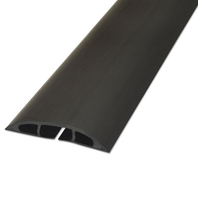"Light duty floor cable cover, 72"" x 2 1/2"" x 1/2"", black, sold as 1 each"