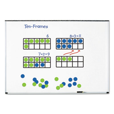 "Giant magnetic ten-frame set, 12 1/4""l x 5""h, blue/green, sold as 1 set"