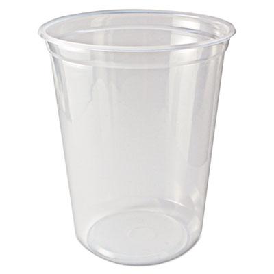 Microwavable deli containers, 32 oz, clear, 500/carton, sold as 1 carton, 500 each per carton